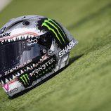 El casco tiburón de Jorge Lorenzo - Lateral izquierdo