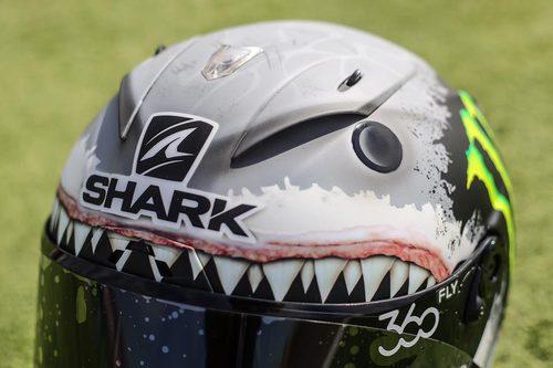 El casco tiburón de Jorge Lorenzo - Frontal superior