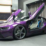 BMW i8 morado - llantas