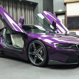 BMW i8 morado - parachoques