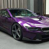 BMW i8 morado - led