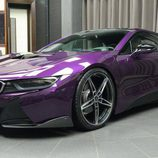 BMW i8 morado - retrovisores