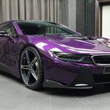BMW i8 morado - porton