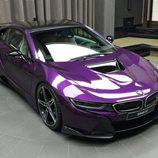 BMW i8 morado - techo