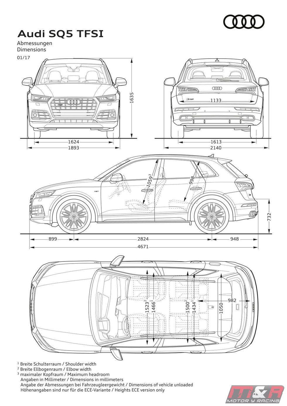 Audi SQ5 TFSI 2017 - Especificaciones