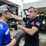 Cyril Despres y Carlos Sainz