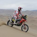 Javier Pizzolitto con la Honda 450 Rally