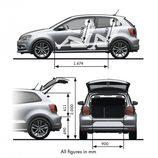 Volkswagen Polo: Tamaño