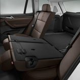 BMW X3: Interior trasera
