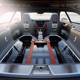 Volvo Concept Estate 2014, vista trasera del habitáculo