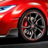 Detalle pasos de rueda delanteros del Honda Civic Type-R Concept
