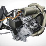 Detalle unidad motor Porsche 919 Hybrid