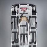 Vista aérea del Porsche 919 Hybrid
