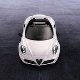Vista aérea frontal del Alfa Romeo 4C Spider
