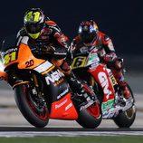 Aleix y Bradl pelean en el GP de Catar