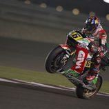 Stefan Bradl a la finalización de la 'Qualy' de MotoGP