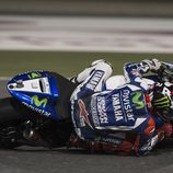 Inclinada de Jorge Lorenzo en Catar