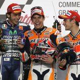 El podio del GP de Catar de MotoGP 2014
