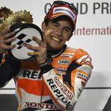 Marc Márquez disfruta de su victoria en Losail