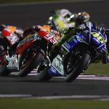 Rossi, Márquez y Pedrosa en Catar