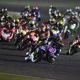 Salida del GP de Catar de MotoGP 2014