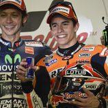 Márquez y Rossi, el gran duelo de Catar