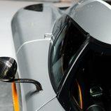 Koenigsegg One:1 - stand de ginebra 2014, detalle retrovisor