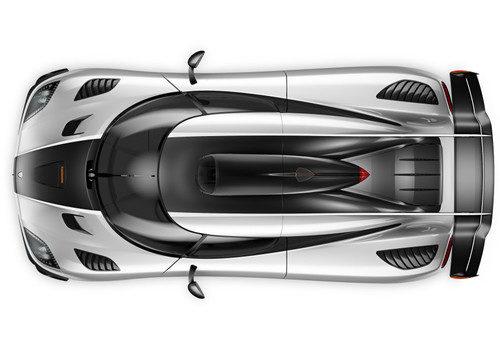 Koenigsegg One:1 - plano cenital