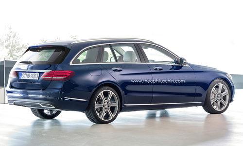 Render del Mercedes-Benz Clase-C familiar