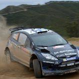 Mikko Hirvonen derrapando con el Fiesta RS WRC