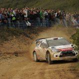Mads Ostberg con el DS3 WRC de lado