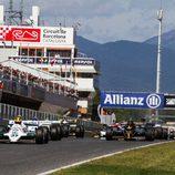 Salida de la primera carrera FIA Masters Historic Formula One