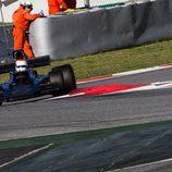 El Lotus 72 en la chicane de Montmeló