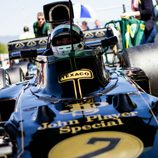 El Lotus 72 en la parrila de salida