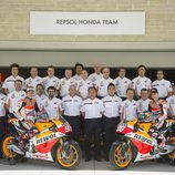 Foto de equipo del Repsol Honda en Austin