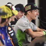 Nicky Hayden en la rueda de prensa del GP de las Américas