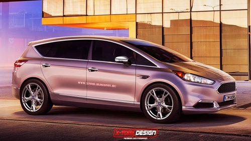 Render del futuro Ford S-Max Vignale