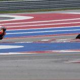 Paseo triunfal del equipo Repsol Honda en Austin