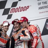Selfie en el podio del GP de las Américas