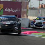 Tom Chilton con el Chevrolet Cruze TC1 en Marrakech