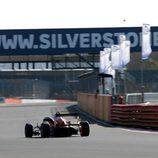 Antigua recta de meta en Silverstone