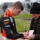 Los primeros autografos de Verstappen