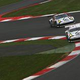 Imagen del doblete de Porsche en GTE Pro en Silverstone