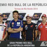 Seis pilotos ante la prensa del GP de Argentina