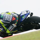 Contraluz de Valentino Rossi en los FP2 en Termas