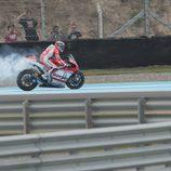 Momento de la rotura de motor de Andrea Dovizioso