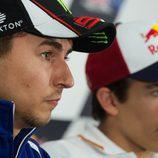 Lorenzo y Márquez en rueda de prensa post clasificación
