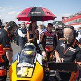 Aleix Espargaró en la parrilla de MotoGP en Termas