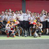 El equipo Repsol Honda celebra sus éxitos en Argentina
