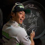 Hiroshi Aoyama en unas bodegas en Jerez
